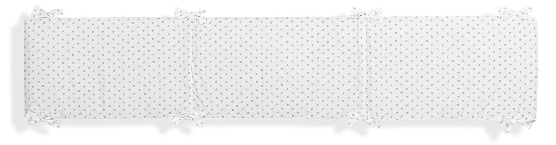 Protector Desenfundable y Reversible para Cuna mibebestore Estrellas Gris