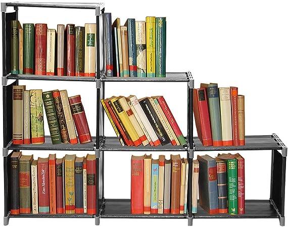 Estantería para libros, sistema de estantería, estantería escalonada, estantería de baño, aparador, armario, estantería de pie, caja de almacenamiento, escalera para flores, 110 x 106 x 32 cm: Amazon.es: Juguetes y juegos