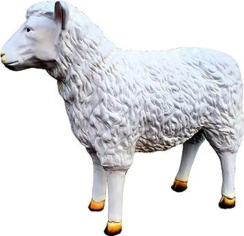 Ziege lebensgroß als Dekorationsfigur aus Polyresin
