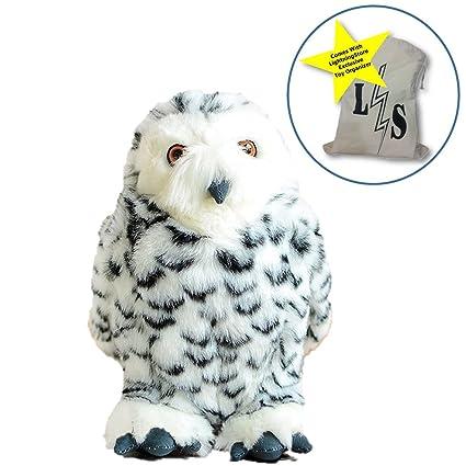 Amazon Com Lightningstore Adorable Cute White Owl Doll Realistic