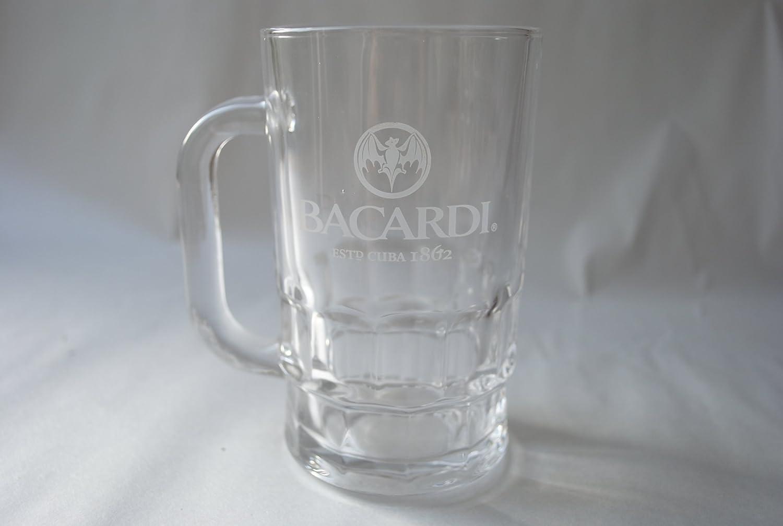 Bacardi Ron jarra cristal media pinta 10 oz: Amazon.es: Hogar