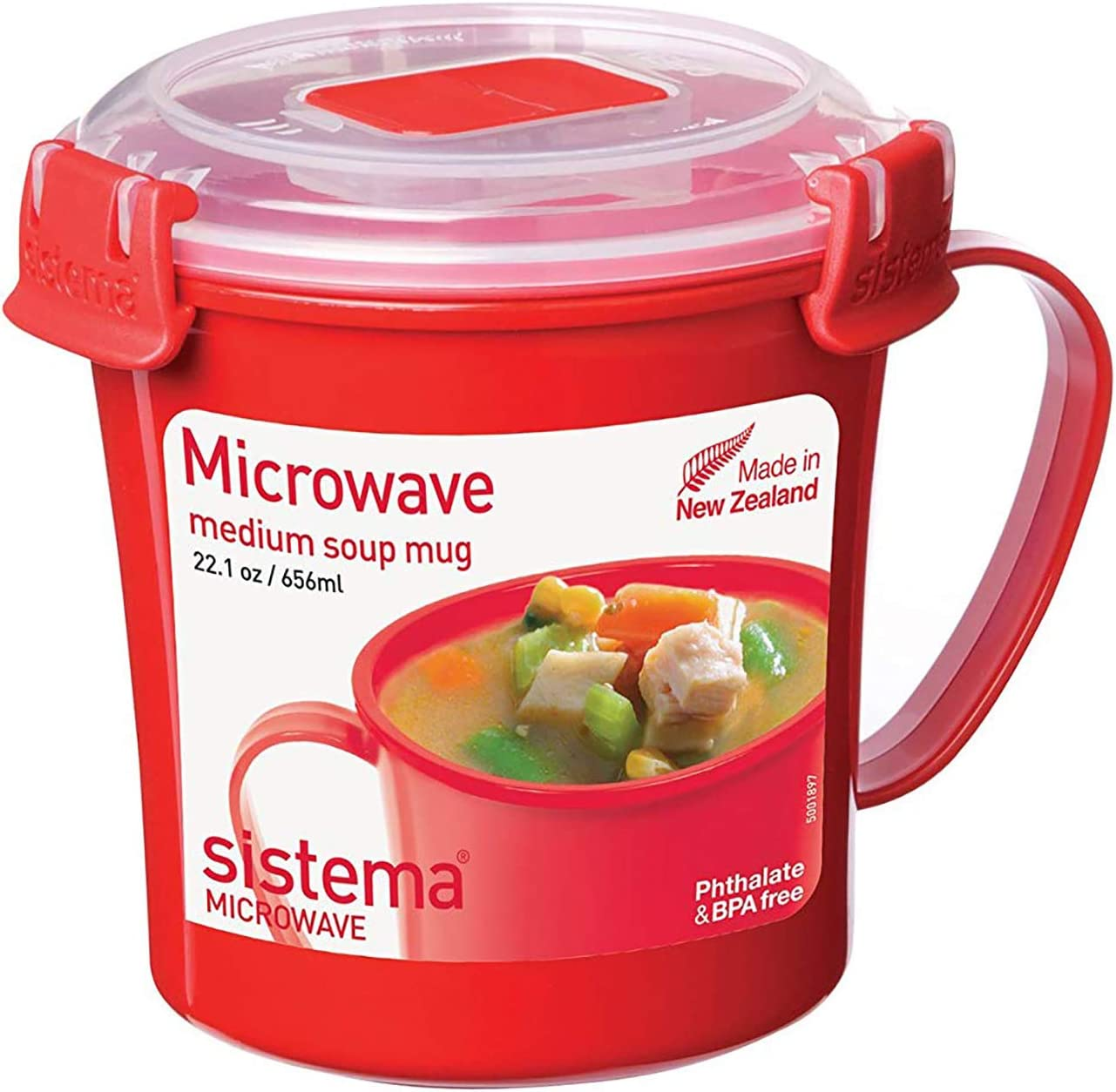 3 Pcs Sistema Healty Soup Breakfast Porridge Noodle Bowl To Go Plastic Klip it