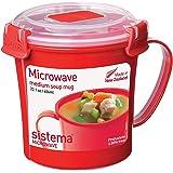 Sistema 汤羹杯 可进微波炉 656ml 红色 便携式