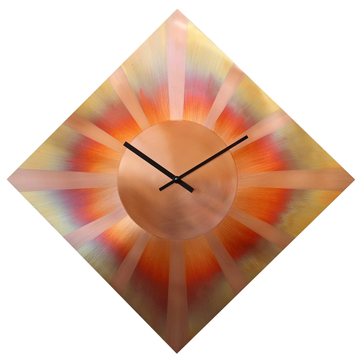 22-inch Diamond Copper Wall Clock - Art Decor 7th Anniversary Gift - for Home Office Kitchen Living Room