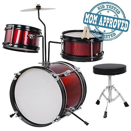 Amazon Com Koval Inc Kids Drum Set 3 Piece Junior Drum Set Kit