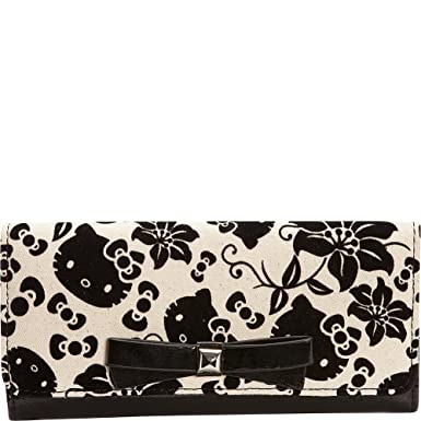 Loungefly Hello Kitty Black   Cream Floral Wallet  Amazon.co.uk ... 07abff4edd5a3