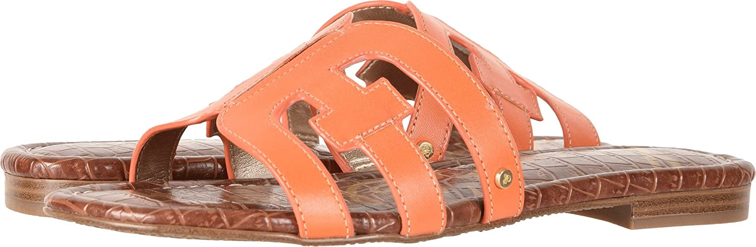Sam Edelman Women's Bay Slide Sandal B0762SLBTG 7.5 W US|Tangelo Vaquero Saddle Leather