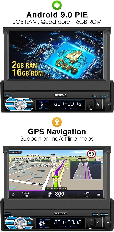 Nuevo】Pumpkin Android 9.0 Radio 1 Din Autoradio GPS Navegador ...