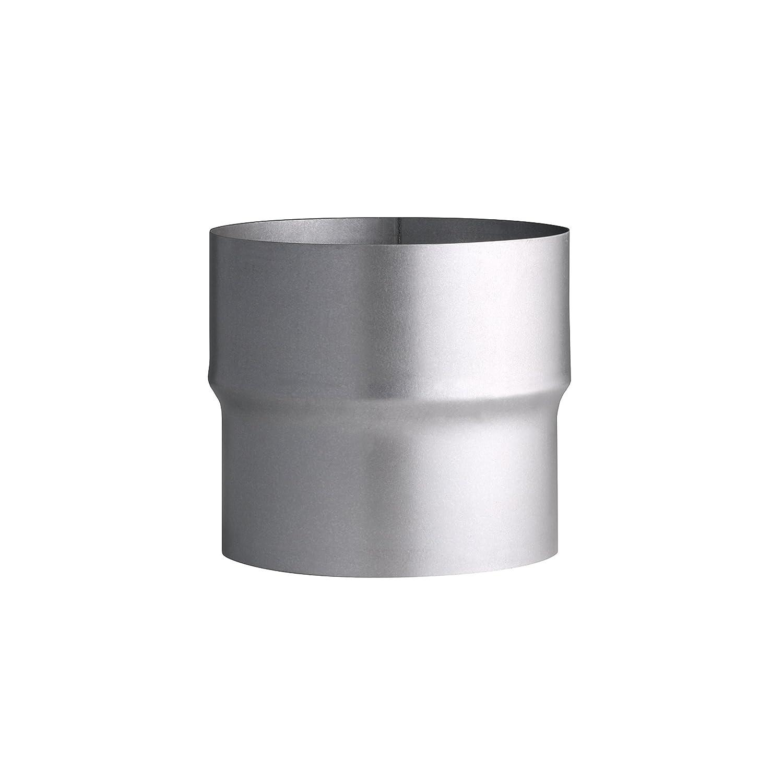 Kamino - Flam - Adaptador de reducción para tubo de chimenea (110/120 mm, acero), Tubo reducción estufa, Reductor tubo escape, Chimenea reducción EN 1856-2 ...