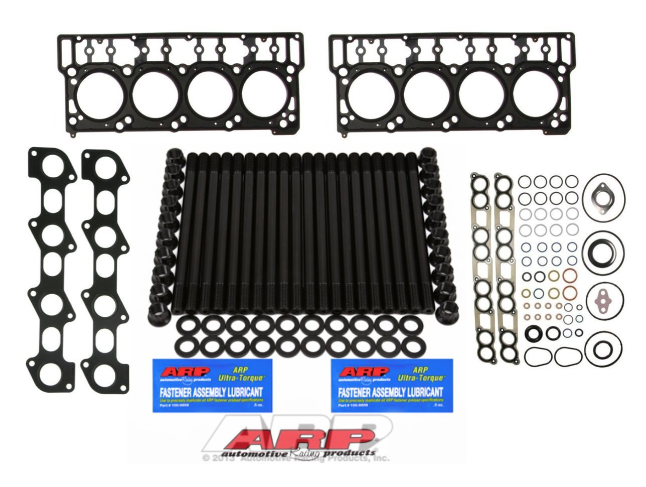 06-07 Ford Powerstroke 6.0L Diesel Custom ARP Head Stud Kit &Oem Style 20mm Head Gaskets & Intake Manifold Installation Kit & Exhaust Gaskets - Solution Kit - Bundle