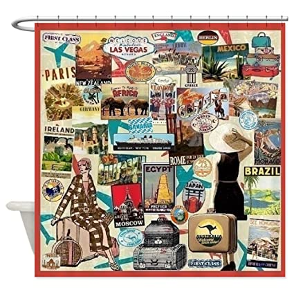 CafePress Travel Decorative Fabric Shower Curtain 69quot