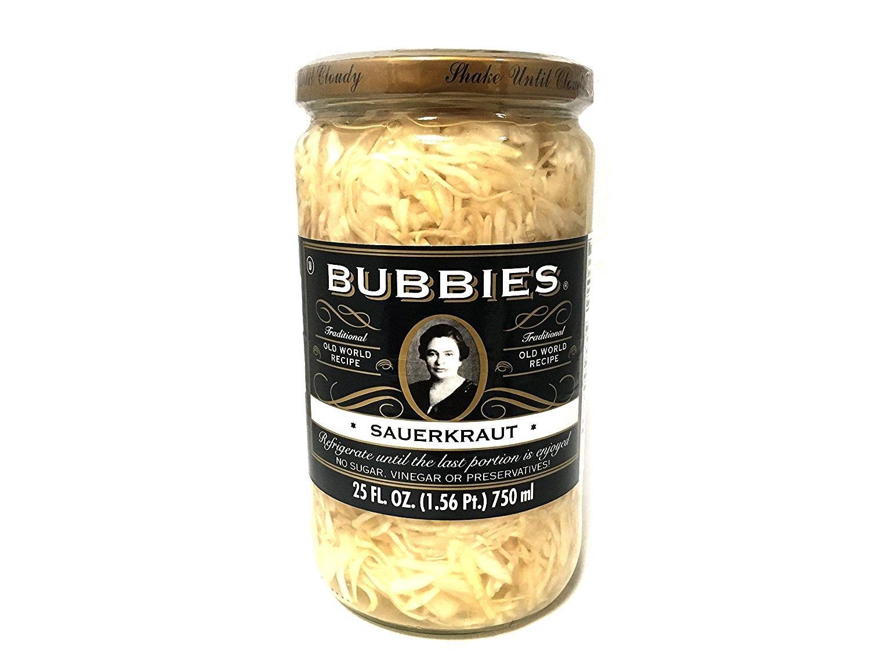 Bubbies Sauerkraut   No Sugar, Vinegar, or Preservatives!   25 Oz   Pack of 1