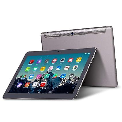 Tablet 10 Pulgadas 3G Dual Sim - TOSCIDO Android 9.0 Certificado por Google GMS, Quad Core,64GM ROM,4GB RAM,Doble Altavoz ...