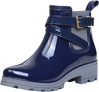 Botas de Agua Bota de Goma Mujer Impermeable lluvia Zapatos ...