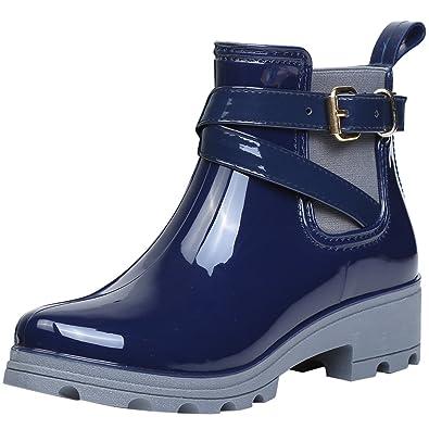 promo code 6220f 0467b Stivali Gomma Caviglia Rain Boot Pioggia Antiscivolo Impermeabile Scarpe  per Donna