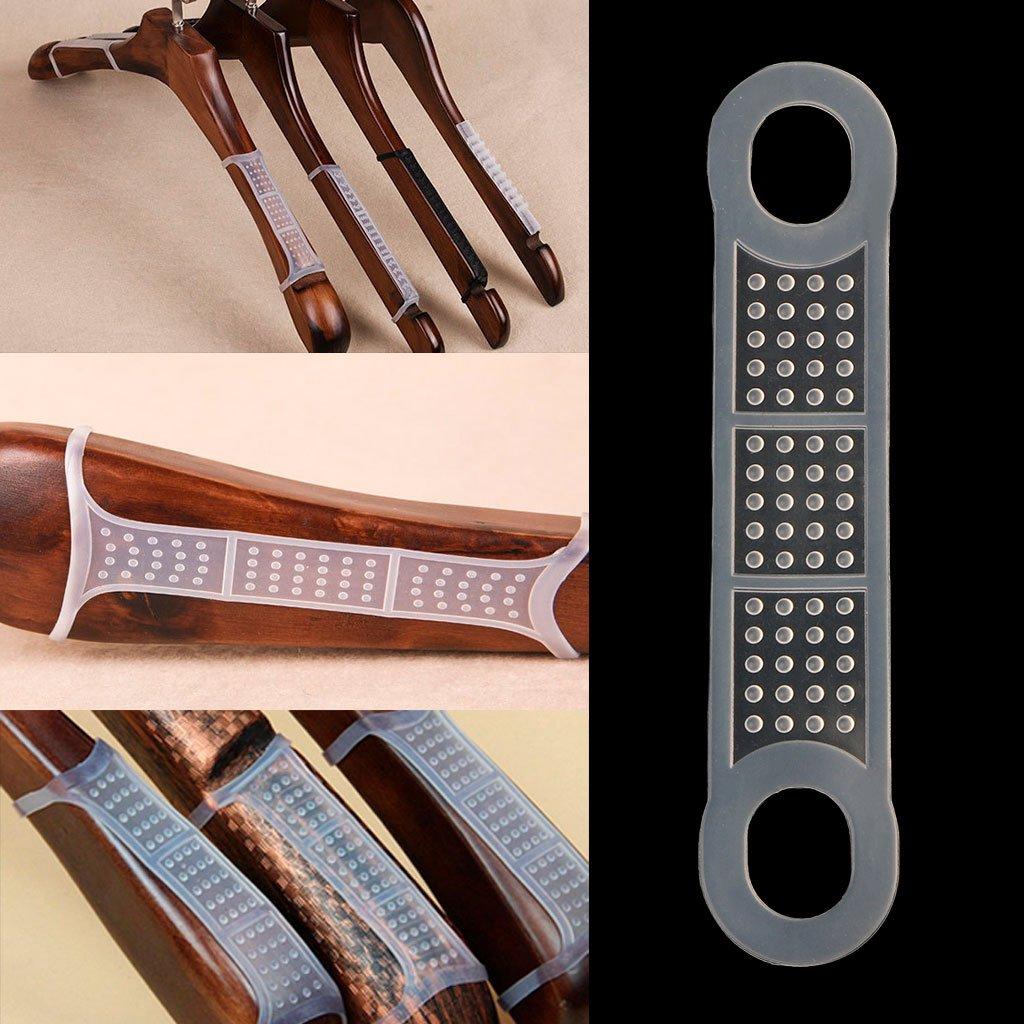 runrain 20/pezzi silicone Gruccia Anti Slip strisce vestiti Rack Pad antivento