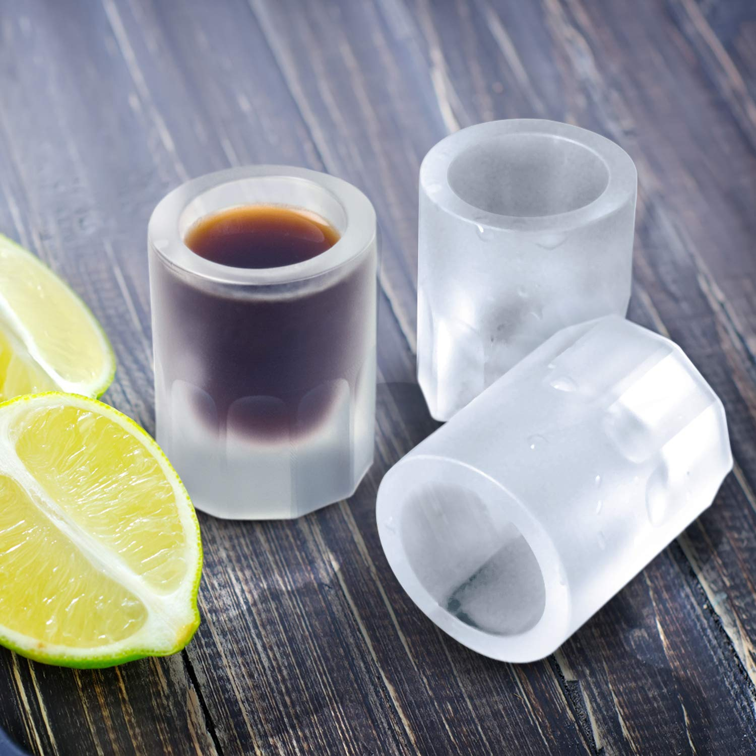 shot glasses made of ice