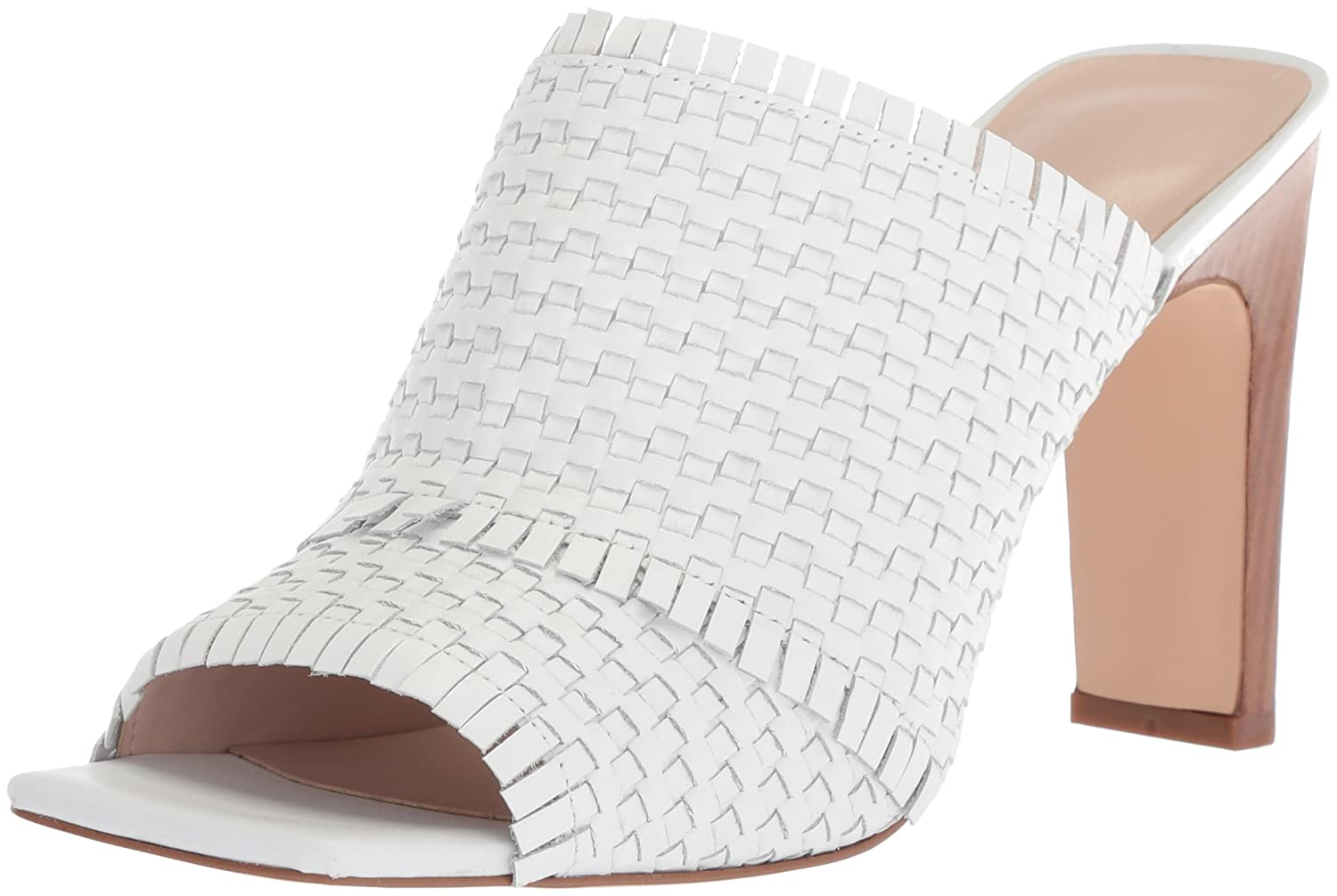 Nine West Women's Lucili Leather Slide Sandal B074NKVW9R 12 M US|White Leather