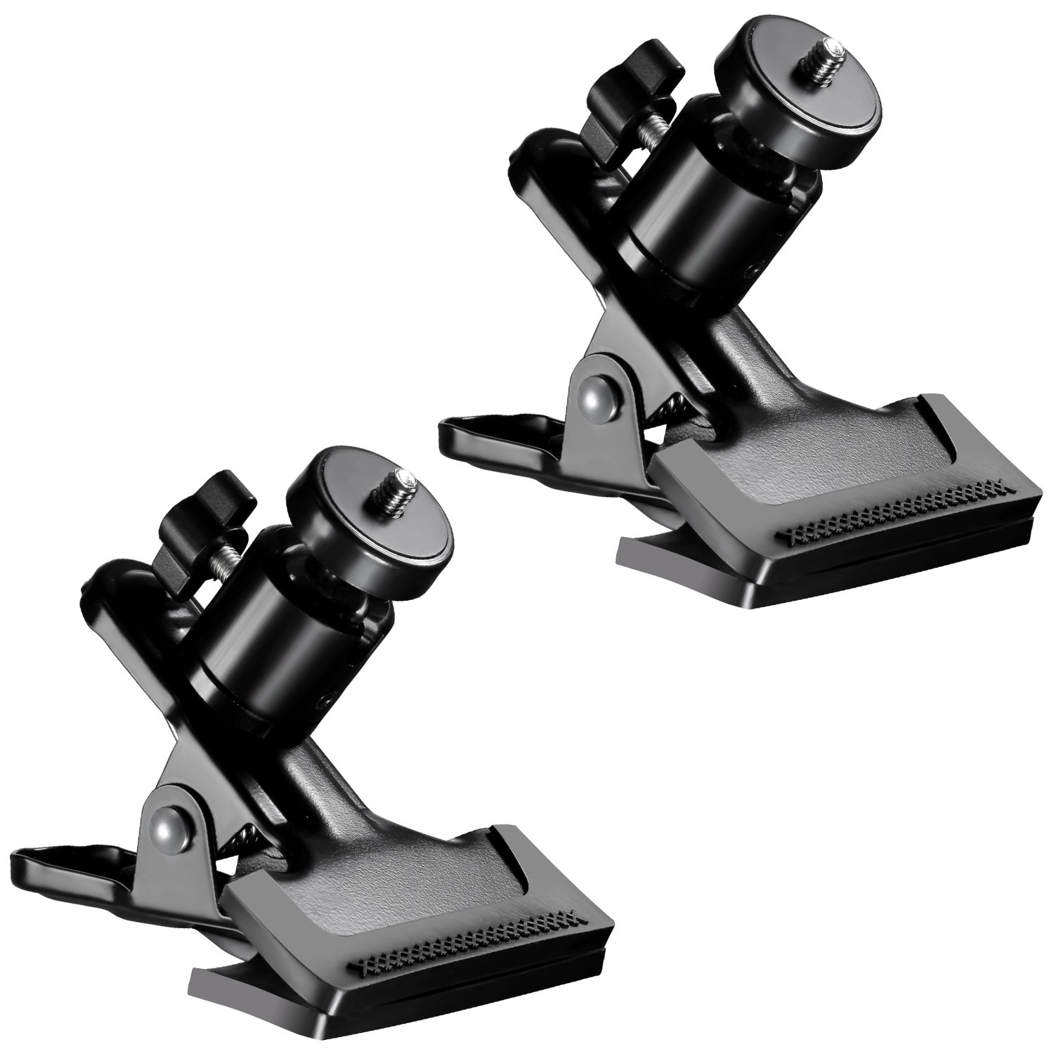 Neewer® 2 Pack Multi-function Spring Clamp Clip Holder Mount with Ball Head Standard 1/4'' Screw for Gopro,SLR, Digital SLR, Video Cameras by Neewer