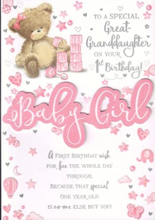 Great Granddaughter 1st Birthday Card