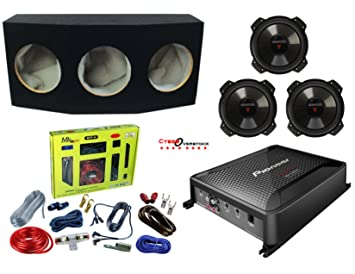 3 Kenwood kfc-w2516ps 10 Inch Subwoofers estéreo con Pioneer GM-D8601 Mono clase