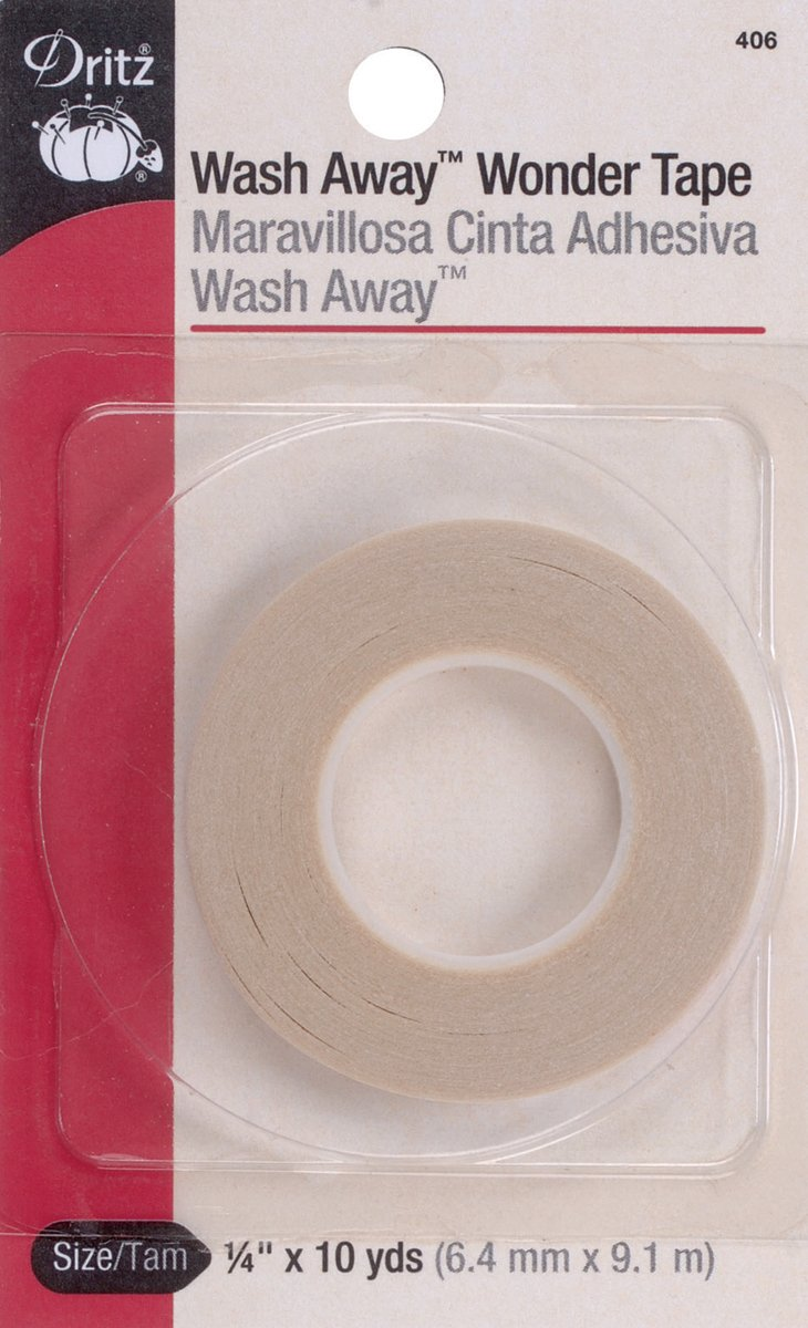 Dritz 406 1/4-Inch by 10-Yard Wash Away Wonder Tape