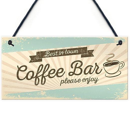 Mr.sign Coffee Bar Cartel de Pared Madera Placa Madera Palet ...