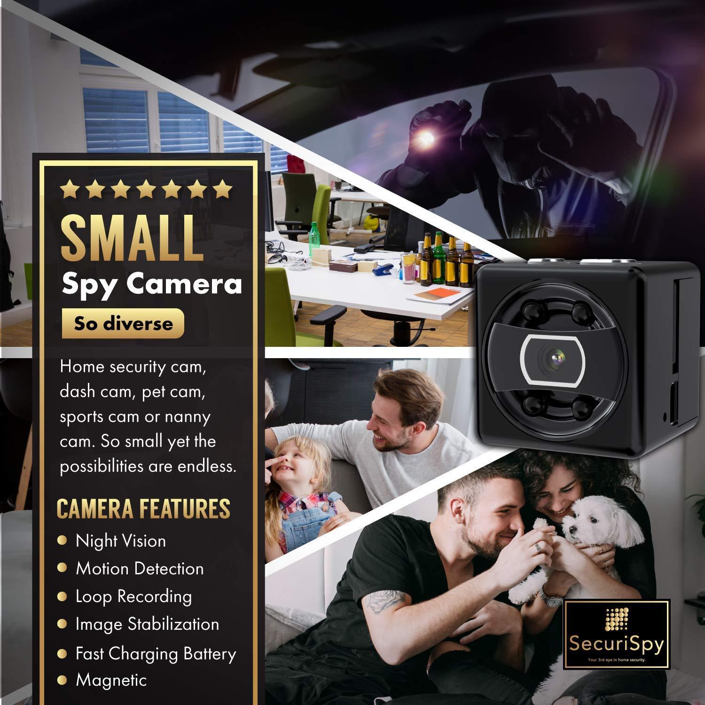 mini cam/éra espion Cam/éra action COP Cam 1080P Body Cams soutien vision nocturne et d/étection de mouvement cam/éra de surveillance secr/ète minuscule cam/éra dutilisation int/érieure,16G