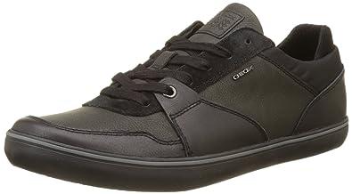 Geox Men's Box 28 Sneaker, Black, ...