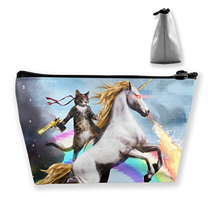 d4ff63113ecd Amazon.com: customgogo Women's Cat Riding A Fire-Breathing Unicorn ...
