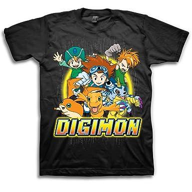 Digimon Group Camiseta Negra Para Hombre | XL: Amazon.es: Ropa y accesorios