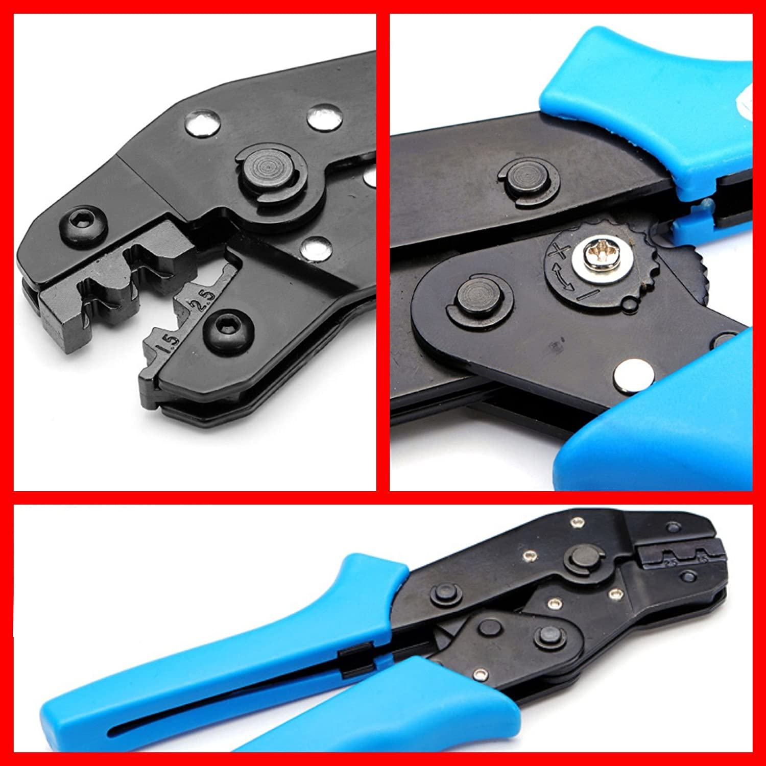 Amazon.com: Signstek Pin Full Cycle Ratchet Wire Crimping Tool 2.54 ...