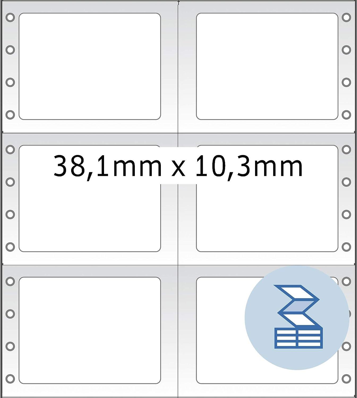 rot 101,6 x 48,4 mm, Papier, matt, 1-bahnig 2.000 Etiketten selbstklebend HERMA 8122 Computeretiketten permanent haftende Endlosetiketten endlos