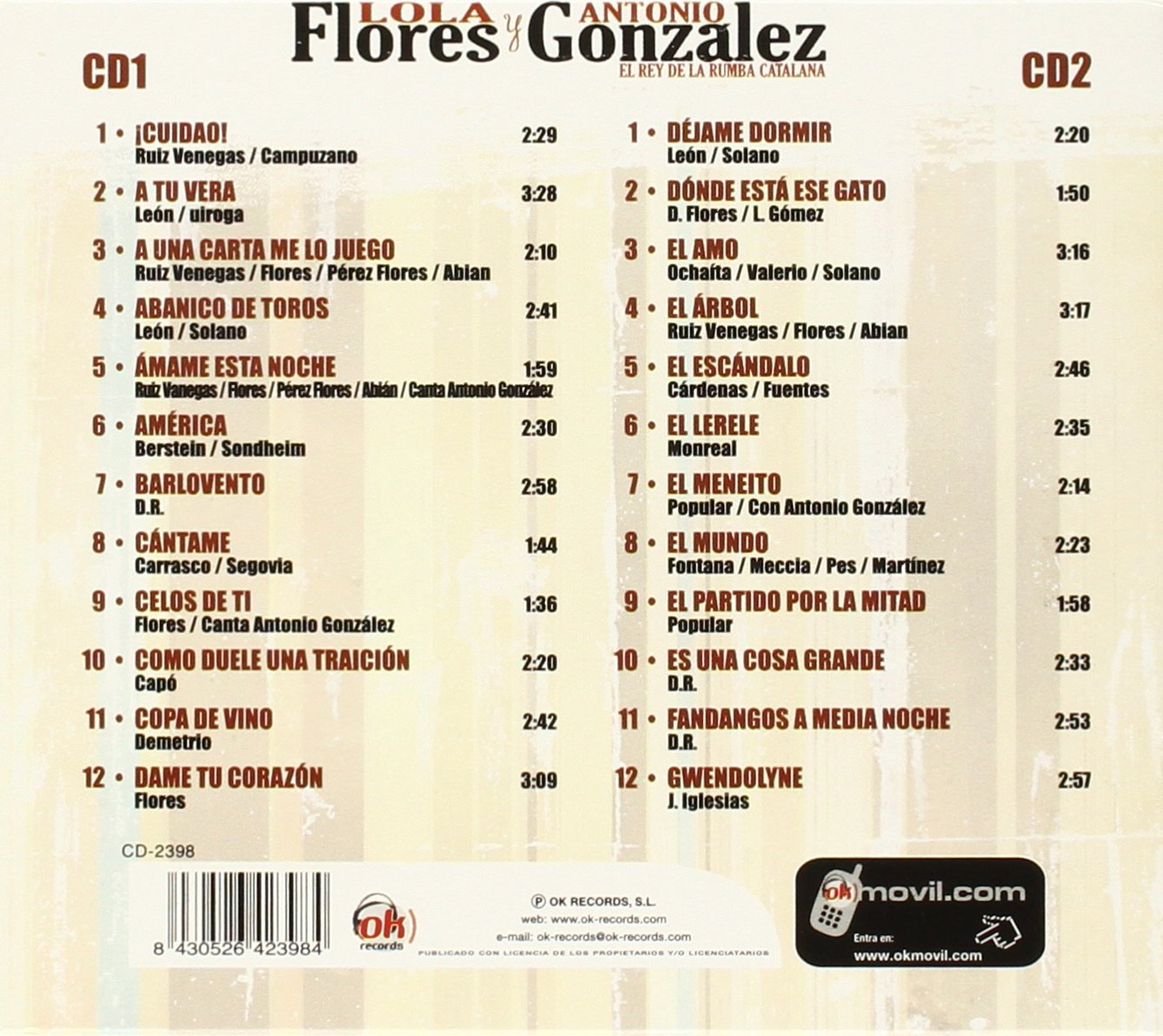 - Lola Flores Y Antonio Gonzalez 2 Cds - Amazon.com Music
