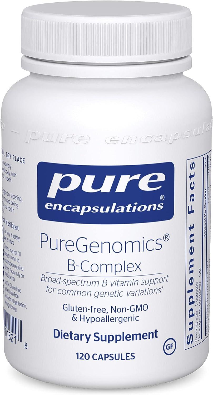 Pure Encapsulations - PureGenomics B-Complex - Broad Spectrum B Vitamin Support for Common Genetic Variations - 120 Capsules