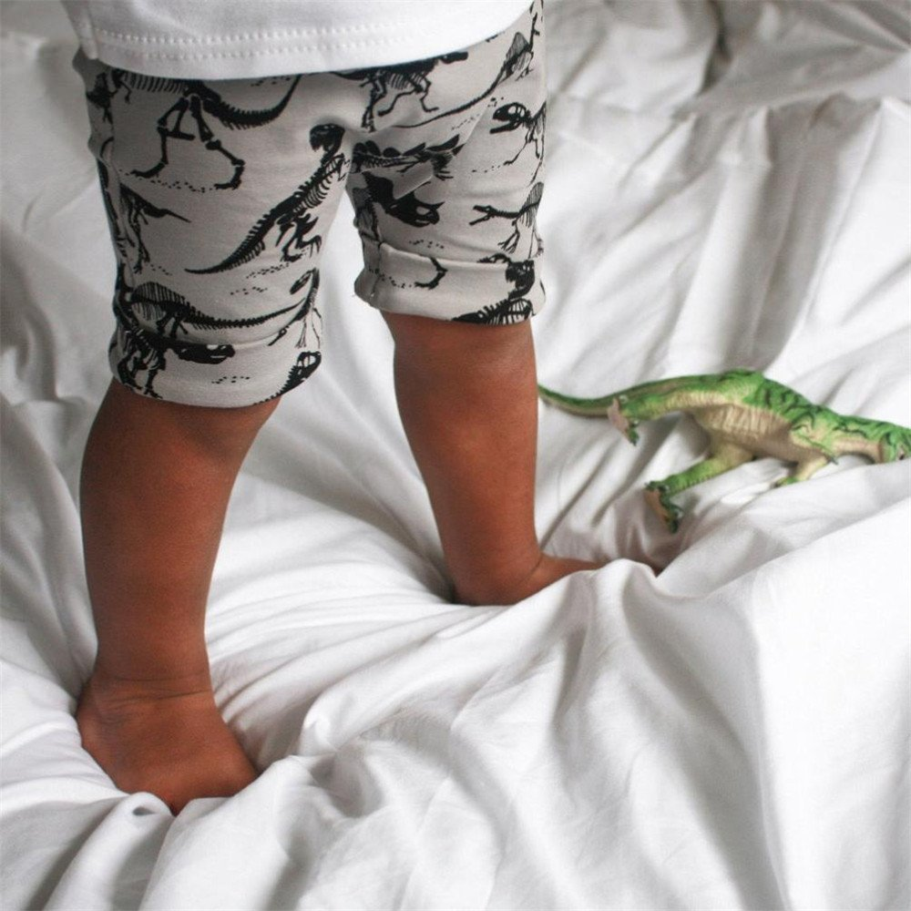 HCFKJ Ni/ñO Peque/ñO Beb/é Dinosaurios Impresi/óN Elasticidad Pantalones Cortos
