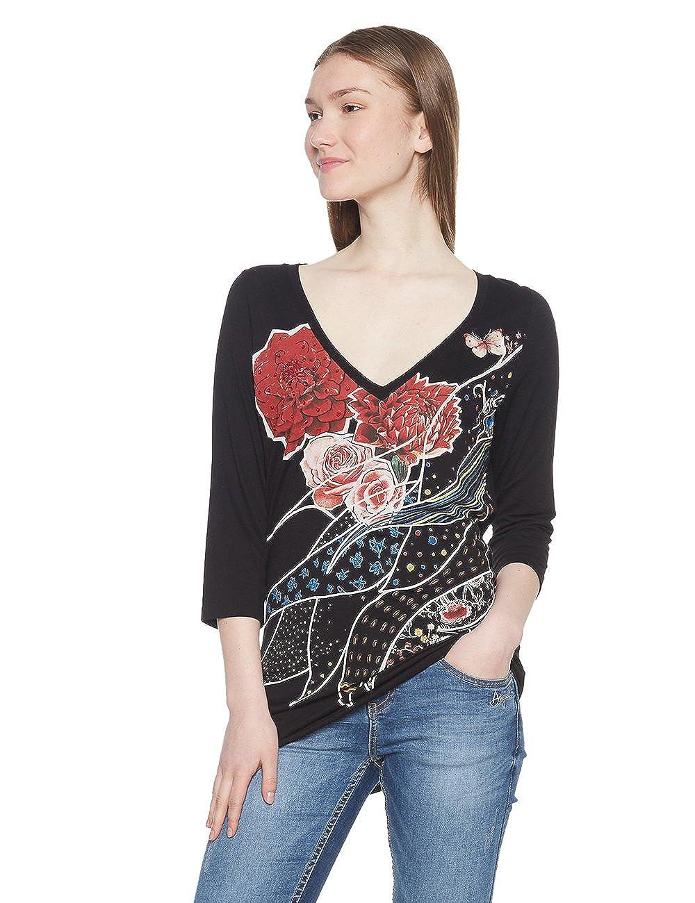 TALLA M. Desigual TS_keppary Camiseta para Mujer