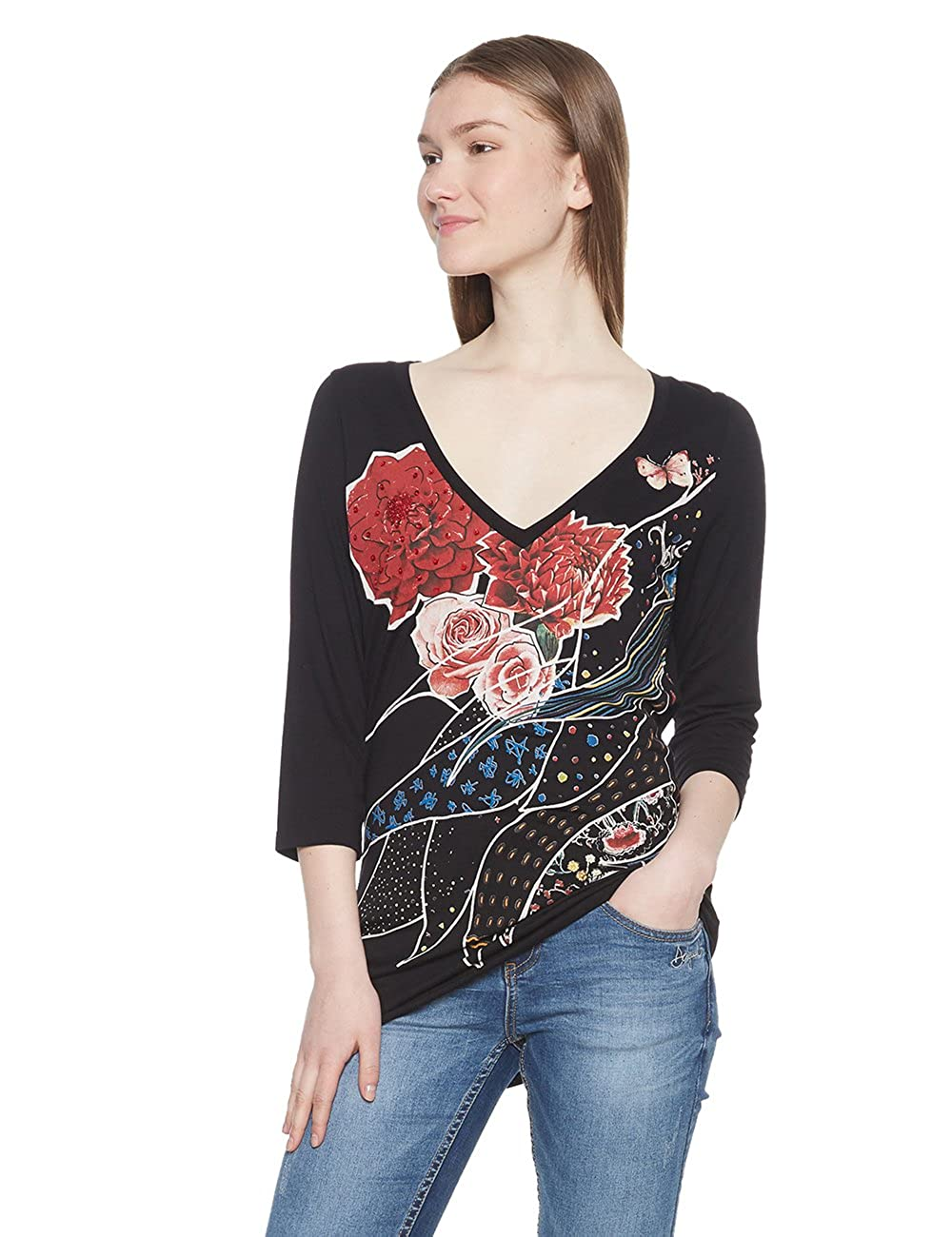 Desigual TS_keppary Camiseta para Mujer