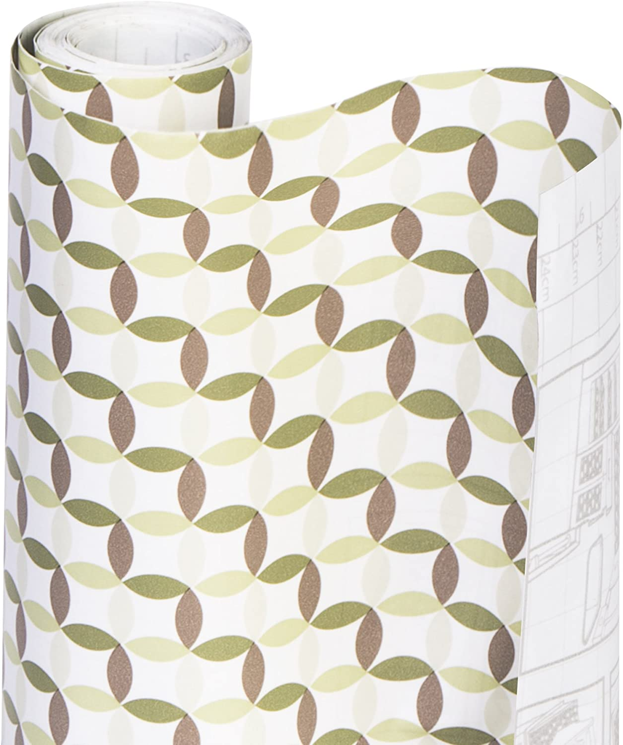 Wipes Clean Kitchen Cutable /& Removable Material Easy Peel Design 18 Inch x 20 Feet Beige Plaid Drawers for Shelves Smart Design Shelf Liner w//Decorative Adhesive Flat Surfaces