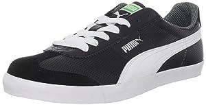 PUMA Men's Roma LP Sneaker, Black/White/Classic Green, 10 D US