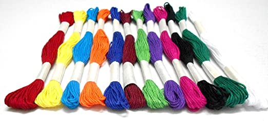 White Goelx Skein Embroidery Thread Floss// Jewelry Making Craft Thread Pack Of 25 Skeins