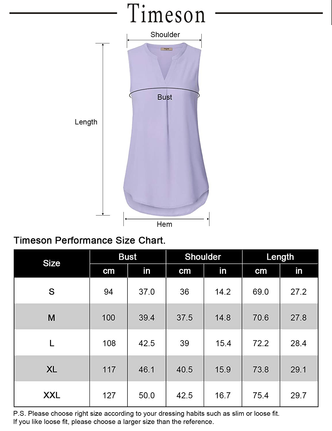 Timeson Women Casual Chiffon V Neck Cuffed Sleeve Blouse Tops