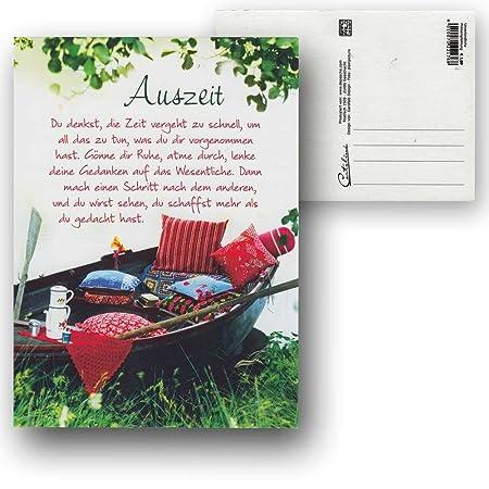 Cartolini Postkarte Karte Sprüche Zitate 15 5 X 11 5 Cm Auszeit Du