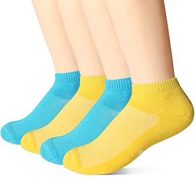 +MD 4 Pack Womens Bamboo Smell Control Soft Cushioned Low Cut Athletic Socks: Clothing
