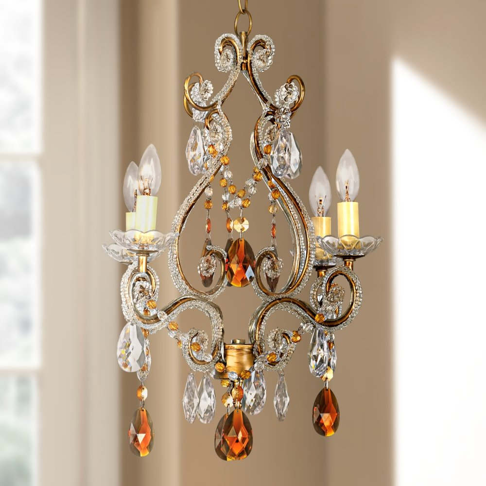 gold crystal chandelier classic swarovski small simple