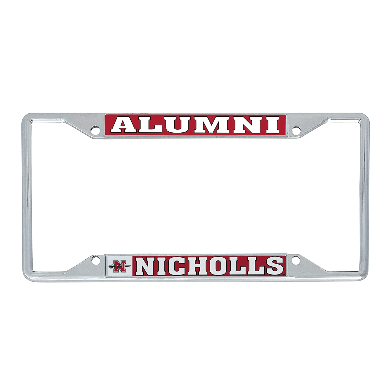 Desert Cactus Nicholls State University Colonels NCAA Metal License Plate Frame for Front Back of Car Officially Licensed Alumni