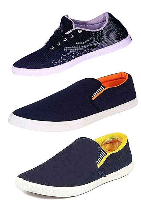 98216f1aa86 FITBLOOM Perfect Combo Pack of 3 Loafer Shoes for Men Blue  Buy Online at Low  Prices in India - Amazon.in