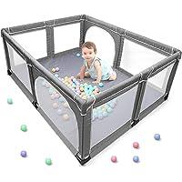 Parque de juegos para bebés, centro de actividades para niños en interiores y exteriores con base antideslizante, patio…