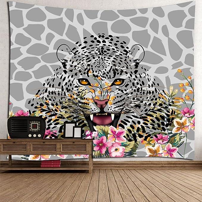 Wjsw Leopard Art Gedruckt Tapisserie, Indische Mandala Hippie Boho ...