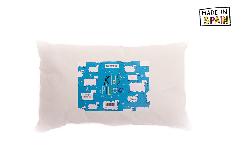 1 pi/èce SLEEPAA Oreiller pour berceau microfibre 100/% polyester 30 x 50 cm couleur blanc Fabriqu/é en Espagne Diverses pi/èces